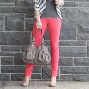 J. Crew Matchstick Jeans in Coral